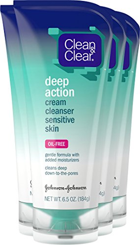 Clean And Clear Deep Action Cream Cleanser, Oil-Free For Sensitive Skin - 6.5 Oz, 6 Pack 3 Pack - Elizabeth Arden Skin Illuminating Smooth & Brighten Emulsion 3.3 oz