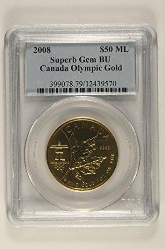 - 2008 Olympics Commemorative $50 Superb Gem BU PCGS