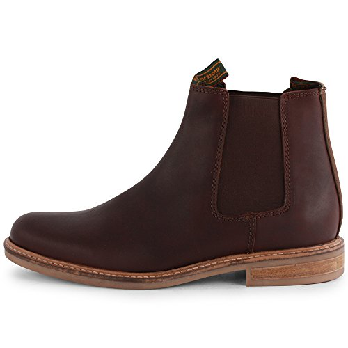 Mens Barbour Farsley Pull On Winter Leer Casual Chelsea Boots Bruin