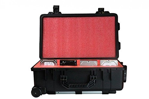 SiForce Drive Transporter L20 -Rugged External Hard Drive Carrying Case - Fits 20 3.5'' Hard Drives by SiForce