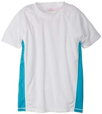 Kanu Surf Little Girls' Toddler Color Block UPF 50+ Swim Tee, White, 2T
