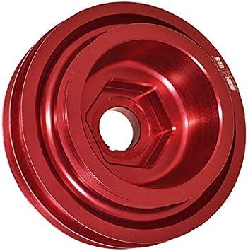 Fit Honda Civic//Integra Under Drive Crank Shaft Case Harmonic Balancer Pulley Red B16//B18//B20 DOHC Engine Only