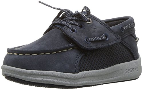Sperry Gamefish A/C Boat Shoe (Toddler/Little Kid), Navy, 11 Medium US Little Kid ()