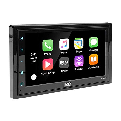 BOSS Audio BVCP9685A Car Stereo with Apple CarPlay, Android Auto  Double Din 6.2 Inch LCD Touchscreen Monitor, Bluetooth, Sync Phone GPS Nav, MP3, USB, Aux, AM/FM Radio Receiver
