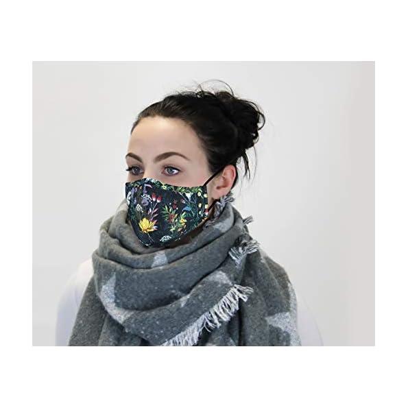 Premium-Mund-Nasenschutz-aus-Baumwolle-im-Blumen-Design-3-lagig-mit-Nasenbgel-verstellbare-Ohrschlaufen-waschbar-Mundschutz-Community-Maske