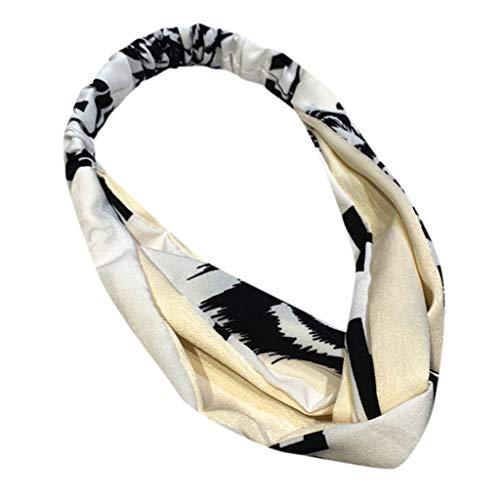 (Fashion Floral Hair Band - Elastic Simple Dot Printed Women Turban,Elegant Shopping Silk Head Wrap)