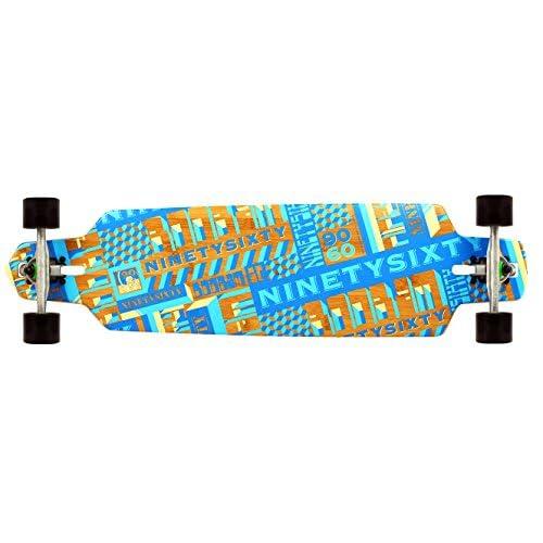 Ninety Sixty Longboard complet boobam Flex Medium, bleu, 100cm, 3915