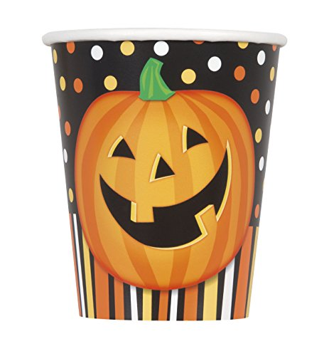 9oz Smiling Pumpkin Halloween Party Cups, 8ct