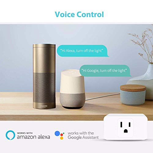 Wifi Smart Plug 2 Pack, Mini Outlet Works with Amazon Alexa Google Assistant IFTTT, No Hub Required, ETL and FCC Listed Remote Control Socket by Refoss (Image #3)