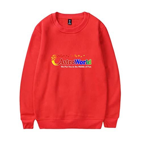 Jersey Cuello Jeelinbore Aficionados Rojo Hombres Camisas Impreso Redondo Tops Pullover Hop Sudadera 3 Hip gwqPq8anEx