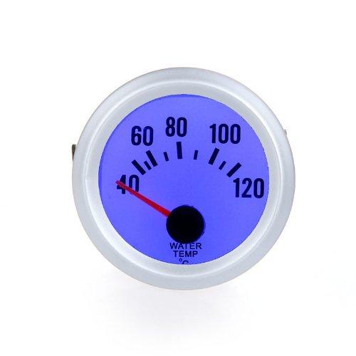 Douself alta sensibilidad indicador de temperatura con sensor calibrador de agua automá tico para coche 2 52 mm 40 ~120Celsius grado luz LED azul