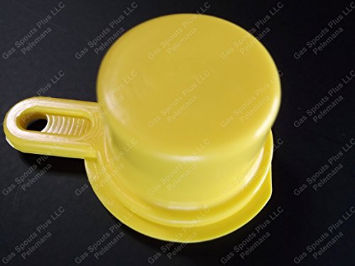 2 BLITZ YELLOW CAPS Gas Spout Cap Lid Replacement Aftermarket Closure PERFECT x2: Amazon.com: Industrial & Scientific