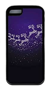 iPhone 5c case, Cute Shiny Elk iPhone 5c Cover, iPhone 5c Cases, Soft Black iPhone 5c Covers