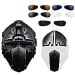 GODNECE Masque Combat Masque Tir Casque Tactique Militaire Casque Intégral Airsoft pour Airsoft Paintball Wargame CS 9
