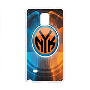 New York Knicks NBA White Phone Case for Samsung Galaxy Note4 Case