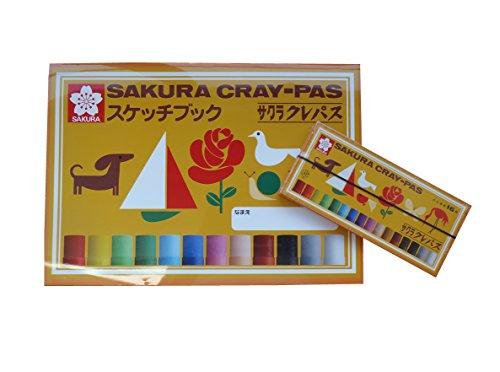 ☆KITERA × サクラクレパス☆コラボ スケッチブック B4サイズ + サクラクレパス16色セット! 954038