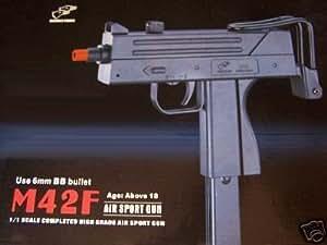 new double eagle m42f spring 6mm bb airsoft rifle gun mini uzi(Airsoft Gun)