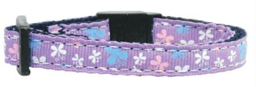 Butterfly Nylon Ribbon Collar Lavender Cat Safety (24 Pack) [Misc.] by None