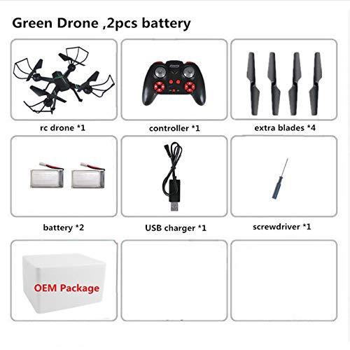 - DishyKooker Mini Drone RC Drone F8 Dron Quadcopter Headless Mode Kvadrokopter One Key Return Quadrocopter RC Helicopter Green 2 Foam Box