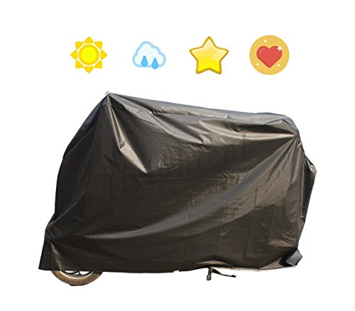 Outdoor Black Waterproof Bicycle Cover Small Scooter Moped Bike Storage YQ6AB (Moped Cover)
