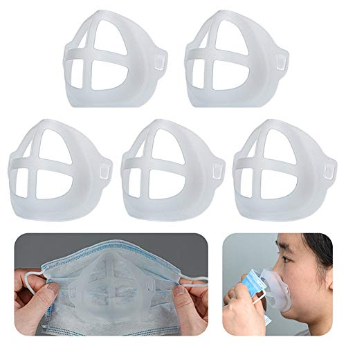Cool Protection Stand - 3D Mask Bracket - Face Mask Inner Support Frame - Plastic Bracket - More Space for Comfortable Breathing Protect Lipstick Washable Reusable
