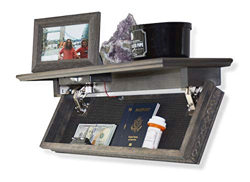 Quick Shelf Safe with RFID - Belmont - Rustic Grey