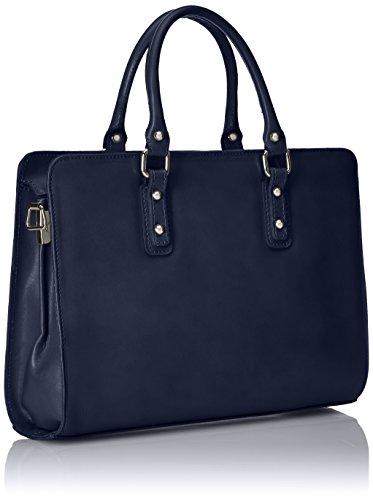 italien pour modèle véritable Made 100 Italy des in poignées avec Bleu Blu Sacoche les femmes cuir dWRnwvq0a0
