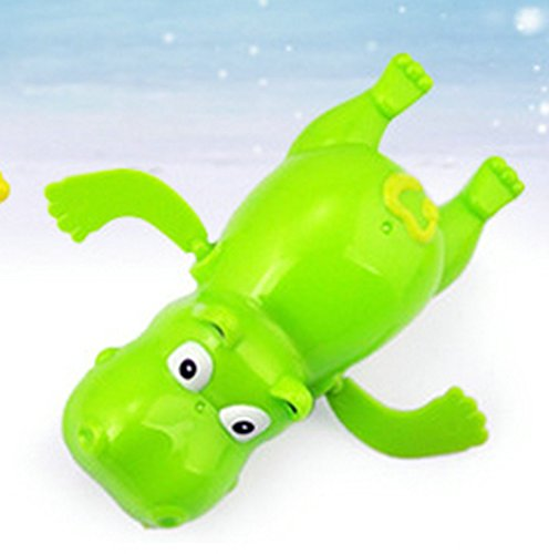 Cute Animal Design Clockwork Swimming Hippo Floating Bathtub Bath Toy for kids Shower Gift 2 Pack