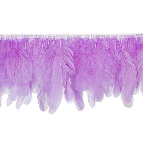 Handmade Goose Duck Feather Trim Fringe (Lilac - -