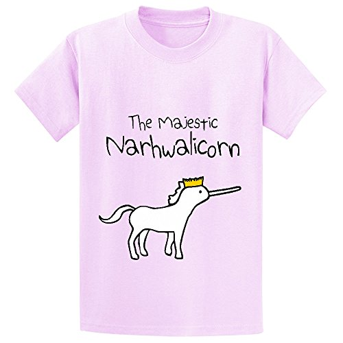 Unicorn The Majestic Narwhalicorn Child Crew Neck Shirts Pink (Mime Masks For Sale)