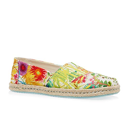 TOMS Women's Alpargata on Rope Sunshine Floral Delight Lawn On Rope 7 B US