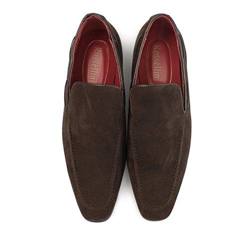 Shuperb RUNU KR2 Mens Faux Suede Loafers Brown Brown R4z7t