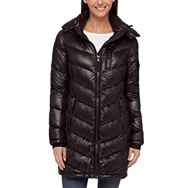 Andrew Marc Ladies' Long Down Jacket (Black, Small)