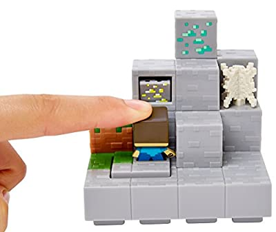 Minecraft Mini Figure Mining Mountain Environment Set from Mattel