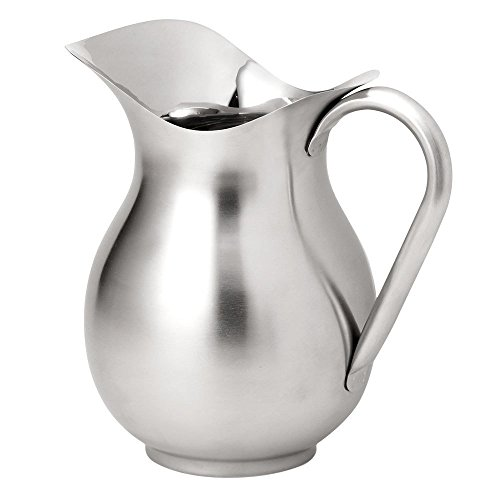 - Vollrath 465312 3-Quart Bell-Shaped Water Pitcher, Stainless Steel