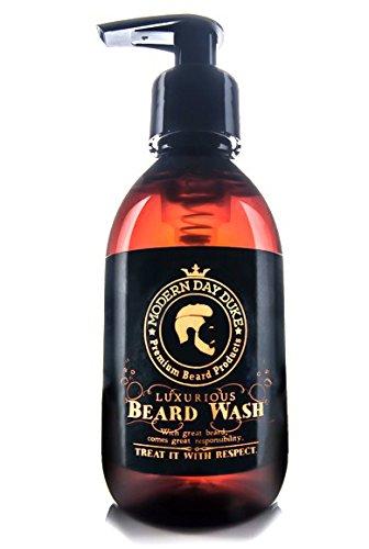 Shampoo barba detergente morbido - Modern Day Duke Sapone per il lavaggio della barba di lusso, XL 200ml - contenente Aloe, Cedarwood e Lime - Pulisce e condiziona delicatamente, promuovendo una crescita sana per barbe pulite, morbide e piene Modern Gent