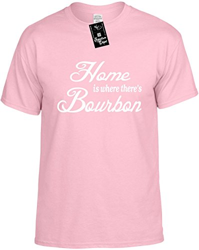 Mens Funny T-Shirt Size 5X (Home is where there's Bourbon) Unisex Shirt