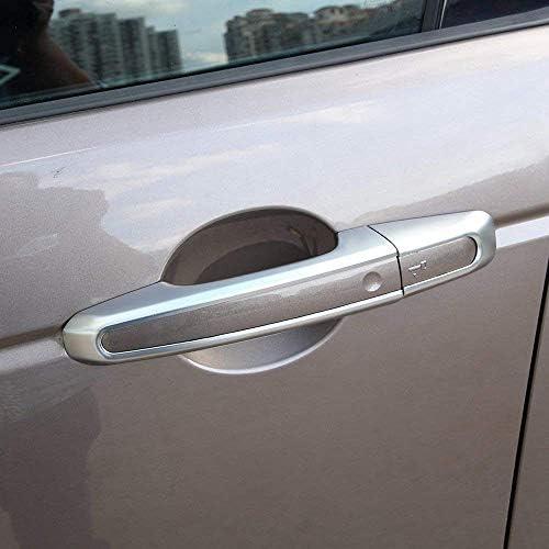 ABS Cromado Pl/ástico Exterior Manija de la puerta Cubierta Accesorios para el autom/óvil Plata mate para Discovery Sport Range Rover Sport 2014-2017