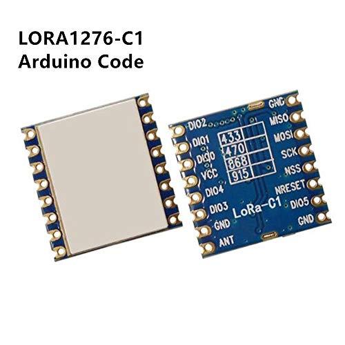 LoRa 1276 Chip Module with Arduino 100mW Long Range Spread Spectrum modulation wireless transceiver module , 2 pcs, LORA1276-C1