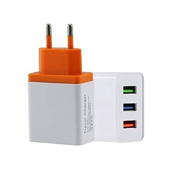 wAddhFC 5V 3A 3 Puertos USB Inicio Viaje Pared Cargador de CA ...