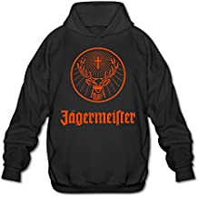 XiaoLiXun Men's Jagermeister Logo Hooded Sweatshirt