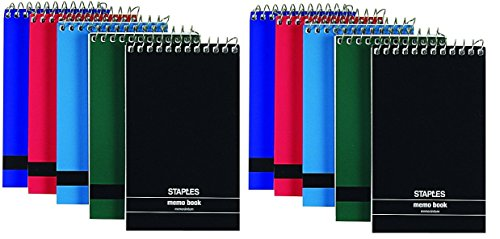 Staples Top Bound Memo Books, 3