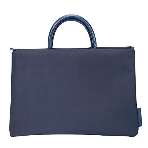 Price comparison product image EKOOS 15-15.6 Inch Laptop Bag,  Laptop Briefcase Handbag Nylon Carrying Bag Laptop Sleeve With Handle,  Laptop Compartment for Macbook Pro / Tablet / Notebook,  Women / Men,  Leisure / Work (Dark Blue)