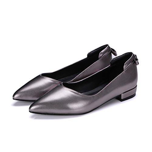 Señora luz cruda con zapatos planos en primavera/ModacoreanaJokerzapatos/zapatosdepuntasimplemujeres B