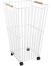 DORLIONA * Hamper wit Washing Storage y Hamper Wheels Clothes Laundry H Laundry Hamper with h Wheels Basket Bin ket Bin Sorter Organizer r Basket Bin