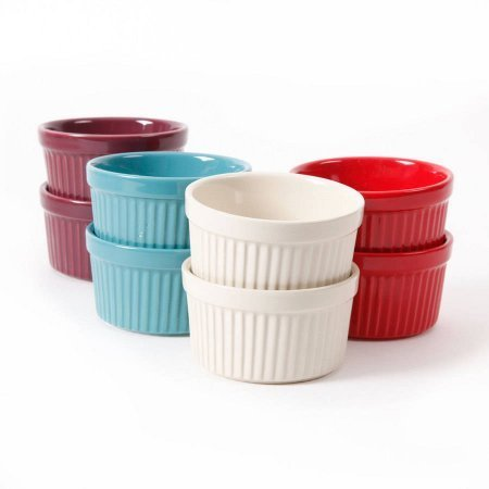 The Pioneer Woman Flea Market Solid 9 oz Ramekins, Solid Colors, Set of 8 - Mini Cheesecake Assortment