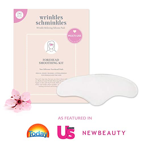 WRINKLES SCHMINKLES 2 Silicone Forehead Wrinkle Patches | Made in USA | Premium Anti Aging Forehead Wrinkle Remover for Frown Lines & Face Lift | Correct Forehead Wrinkles due to Aging & Sun Damage