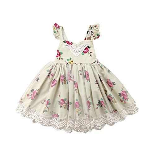 Summer Flower Dress Girl Costume Dresses Girl Party Hoilday Wear Tulle Kids Children Prom Gown Vestido Formal Dress Yellow -