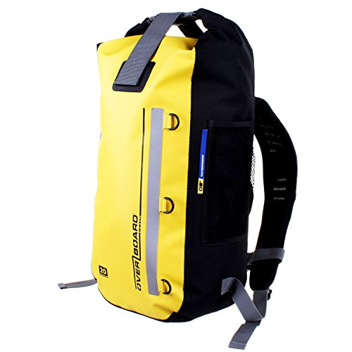 OverBoard Classic 100% Waterproof Backpack Dry Bag, 20 L, Yellow