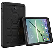 Poetic Cases TurtleSkin Heavy Duty Protection Silicone Case with Sound-Amplification Feature for Samsung Galaxy Tab S2 8.0 Black